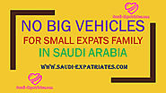 NO BIG VEHICLE FOR SMALL EXPATS FAMILY