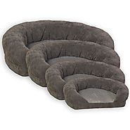K&H Ortho Bolster Sleeper Pet Bed, Large 40-Inch Round, Gray Velvet