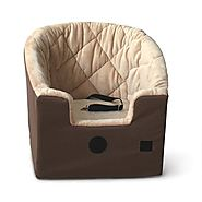 "Bucket Pet Booster Seat Size: Large (22"" H x 20"" W x 19.5"" D), Color: Tan"