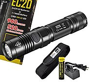 Nitecore EC20 960 Lumens 242 Yards Compact Cree XM-L2 LED Flashlight with 2300mAh 18650, Charger and a Bonus Lumen Ta...