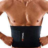 AZSPORT Waist Trimmer - Adjustable Ab Sauna Belt to help you shed the excess Water weight and tone your mid section. ...