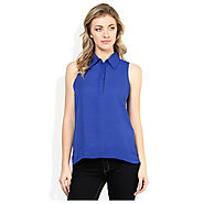 Buy DEAL JEANS Blue Top for Womens @ Price Rs.383 India