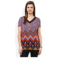 Buy Global Desi Multi Printed Top for Womens @ Price Rs.680