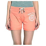 Buy Being Human Orange Poly Cotton Shorts @ 899 Online