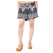 Buy Kashana Fashions Blue Poly Viscose Shorts @ Rs.396