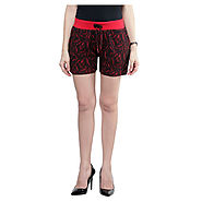 Buy Sakhi Sang Red Jacquard Short @ Price Rs.549 Online