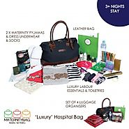 Stylish pre packed maternity bags