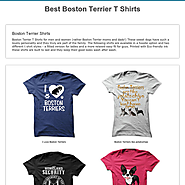 Best Boston Terrier T Shirts