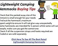 Best Lightweight Camping Hammocks Reviews - Tackk