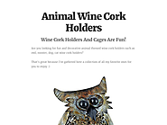 Animal Wine Cork Holders