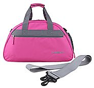 MIER 19inch Half Dome Travel Duffel Bag Women Sports Gym Bag with Shoe Compartment (Pink)