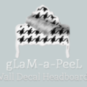 gLaM-a-peeL Wall Decal Headboard Collection