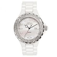 Ceramic Swarovski Crystal White Watch