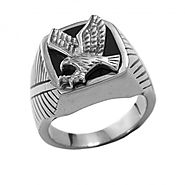 Steel Eagle Ring