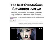 The best foundations for women over 40