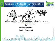 Paradigms of trading strategies