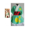 High Quality K-ON! Kotobuki Tsumugi Mint Green Kimono Cosplay Costume -- CosplayDeal.com