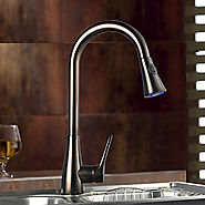 Traditional One Hole Single Handle Deck Mounted Rotatable Pull out Spray Oil-rubbed Bronze Kitchen Faucet At FaucetsD...