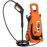 Ivation Electric Pressure Washer 2200 PSI 1.8 GPM with Power Hose Nozzle Gun and Turbo Wand, All Parts Included, W/ B...