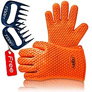 Barbecue Gloves & Pulled Pork Claws Set ♦ Silicone Heat Resistant Grilling Accessories & Home Kitchen Tools For Your ...