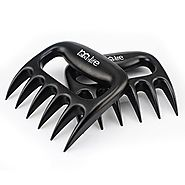 MaxyLife Wolverine Meat Claws-Pulled Pork Shredder Claws [Strong Version 2.0]-BBQ Meat Handler Forks (Black)