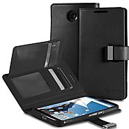 Google Nexus 6 Case - VENA [vDiary] Slim Tri-Fold Leather Wallet Case with Stand Flip Cover for Google Nexus 6