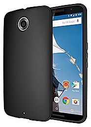 Nexus 6 Case, Diztronic Full Matte Flexible TPU Case for Motorola Nexus 6 - Black - (NX6-FM-BLK)