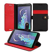Nexus 6 Case, ACEABOVE Nexus 6 Wallet Case - Premium Soft PU Leather Wallet Cover Book Case with STAND Flip Cover and...