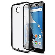 Nexus 6 Case, Maxboost® [Clear Cushion] Google Nexus 6 Case Bumper [Lifetime Warranty] Seamless integrated Shock-Abso...