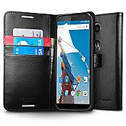 Nexus 6 Case, Spigen® [Stand Feature] Nexus 6 Case Wallet **NEW** [Wallet S] [Black] Premium Wallet Case with STAND F...