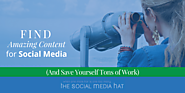 How to Find Amazing Content for Your Social Media Calendar (And Save Yourself Tons of Work)