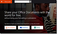 SchoolNet SA - IT's a Great Idea: Have you discovered Microsoft's Docs.com? Create documents, journal entries and col...