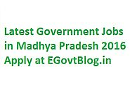 Govt Jobs in Madhya Pradesh 2016 - 132560 Sarkari Naukri in MP 2016 Apply