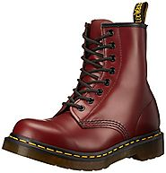 Dr. Martens Women's 1460 Originals Eight-Eye Lace-Up Boot,Cherry Red Rouge Smooth