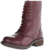 Steve Madden Women's Troopa 2.0 Combat Boot, Wine Leather