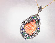 Wholesale Carved Gemstone Pendents from Gemco Designs
