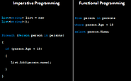 How Imperative Programming Is Different From Functional Programming?