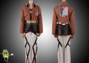 Attack on Titan Jacket Eren Jaeger Recon Corps Cosplay Costume