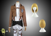 Attack on Titan Armin Arlert Cosplay Costume + Wig