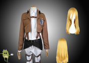Attack on Titan Historia Reiss Cosplay Costume + Wig