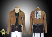 Attack on Titan Reiner Braun Cosplay Costume Scouting Legion