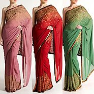 Where can I get best designer Sarees online for my girlfriend?