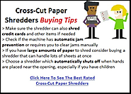Best Cross Cut Paper Shredders Reviews
