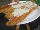 Country Fried Bacon On-a-Stick with Gravy