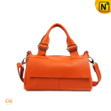 Orange Flap Leather Bag Women CW278315 - cwmalls.com