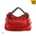 Black Leather Hobo Handbags CW289158 - cwmalls.com
