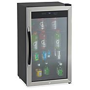 Portable Mini Fridge With Glass Door
