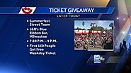 Summerfest crews out giving away more than tickets...