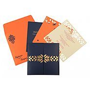 New Arrivals - AW-8260F - Hindu Wedding Cards - A2zWeddingCards