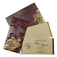 New Arrivals - AW-8259F - Hindu Wedding Invitations - A2zWeddingCards